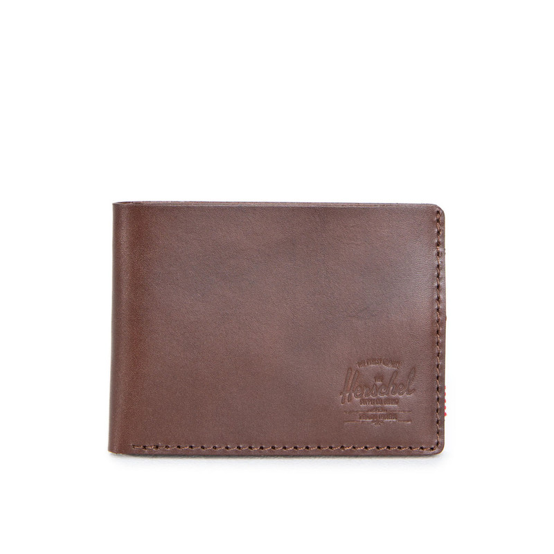 Herschel Miles Wallet Leather Dark Saddle