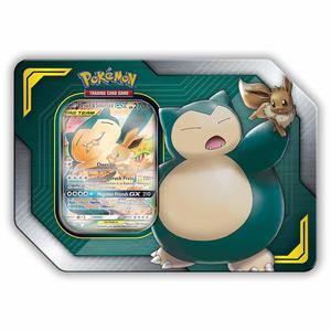 Pokemon TCG Trading Cards Tag Team Tin Eevee & Snorlax GX