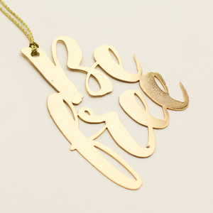 Letternote Be Free 24K Gold Plated Metal Bookmark