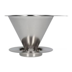 Hario Coffee Dripper 4 Cups S/S Hairline Silver