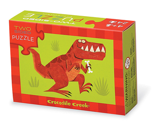 Crocodile Creek Two Sided Puzzle Dinosaur