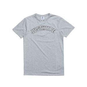 Hype Just Hype College Men's T-Shirt Grey/White