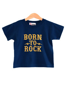 Nippaz With Attitude Born To Rock Navy/Gold Kids T-Shirt