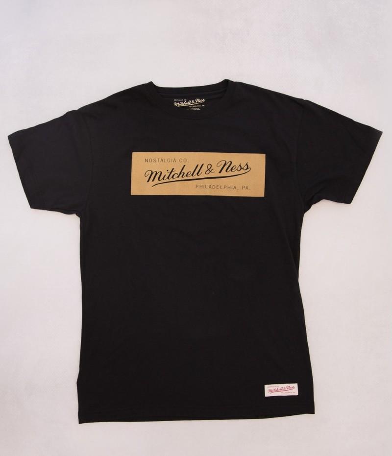 54eae84f40ed Mitchell & Ness Box Logo Men's T-Shirt Black/Rust Gold | Tops & T-Shirts |  Men | Fashion | Virgin Megastore