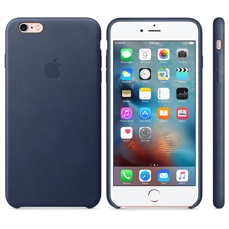 Apple Leather Case Midnight Blue iPhone 6S Plus