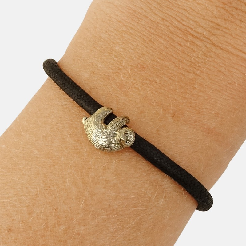 Bold Sloth Endangered Eco Black Bracelet