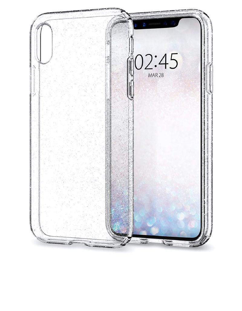 promo code ddc0a 3ded2 Spigen Liquid Crystal Case Glitter Crystal Quartz For iPhone X