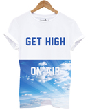 Distinkt Youth Get High On Air White Unisex T-Shirt M