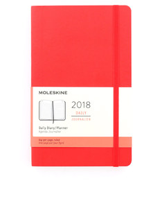 Moleskine 2018 12M Daily Large Scarlet Red Softcover