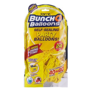 Bunch O Balloons Party 24 Self-Closing Latex Balloons Refill Pack Yellow