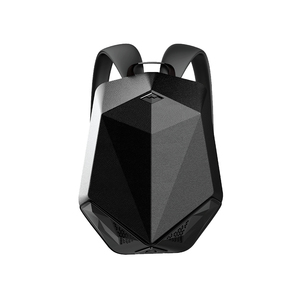 BRAVE BLUETOOTH SPEAKER BACKPACK WITH 5000MAH POWER BANK PU LEATHER BLACK