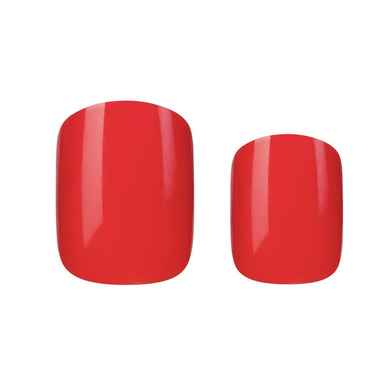 Elegant Touch Polished Red Nails