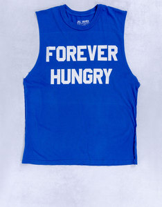 Forever Hungry Muscle Tee Blue