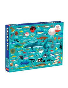 Mudpuppy Ocean Life 1000 Piece Family Puzzle