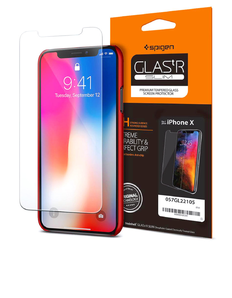 info for a25af 9eed3 Spigen Glas.Tr Slim Screen Protector for iPhone X