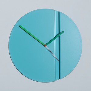 Block Origami Wall Clock Pleat Fold Blue
