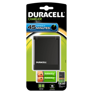 Duracell Hi-Speed Advanced Charger [Includes 2 AA + 2 AAA Batteries]