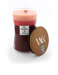 Woodwick Large Candle Trilogy Maroon Fruit Temptation