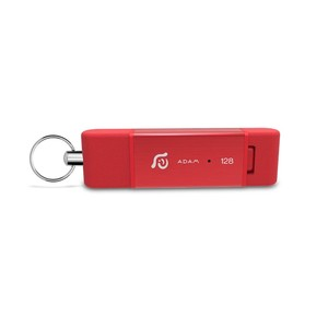 Adam Elements iKlips Duo 128GB Red Flash Drive iOS