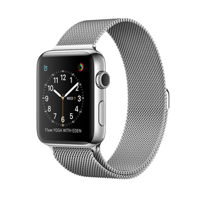 Apple Watch Series 2 38mm Stainless Steel Case with Silver Milanese Loop