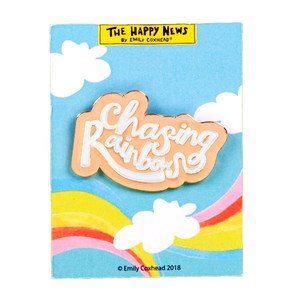 The Happy News Chasing Rainbows Enamel Pin Badge