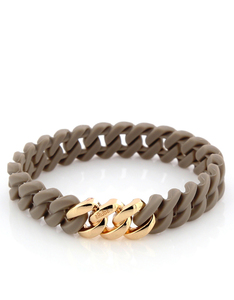 The Rubz Nano Classic Bracelet Taupe & Soft Gold