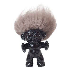 Good Luck Troll Black with Natural Hair Statue [12 cm]