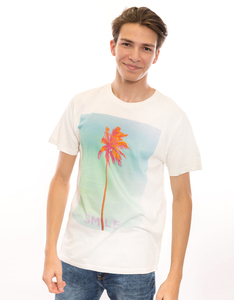 Dedicated Smile Palm Off White Men's T-Shirt