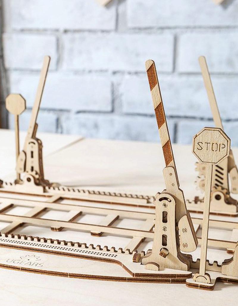U-Gears Rail Crossing Wooden Mechanical Model
