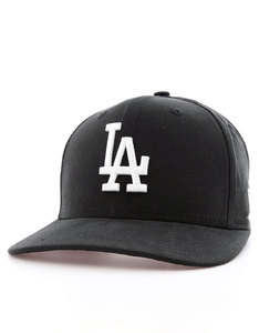 New Era Lightweight Ess LA Dodgers Black/Optic White Cap