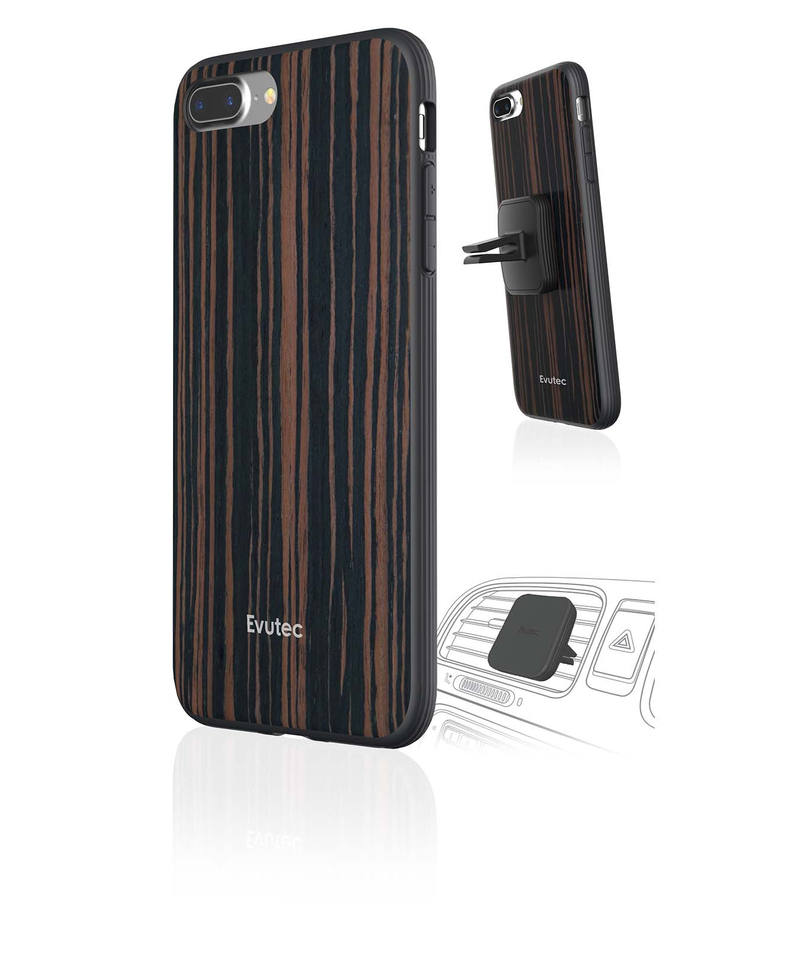 purchase cheap 9cf4f 4b9d3 Evutec AER Wood With Afix Case Ebony Wood For For iPhone 7 Plus