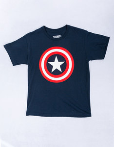Mad Engine Captain America 80's Navy Blue Youth T-Shirt