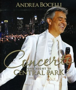 CONCERTO ONE NIGHT IN CENTRAL PARK BLU-RAY