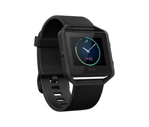 Fitbit Blaze Black Gun Metal Large Smart Fitness Watch
