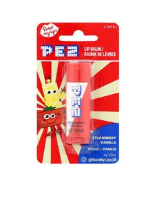 Pez Strawberry/Vanilla Single Lip Balm