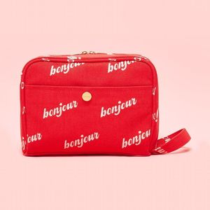 Ban.Do The Getaway Bonjour Cherry/Cream Toiletries Bag