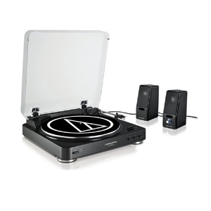 Audio Technica AT-LP60BK Turntable + SP121BK Speakers Package