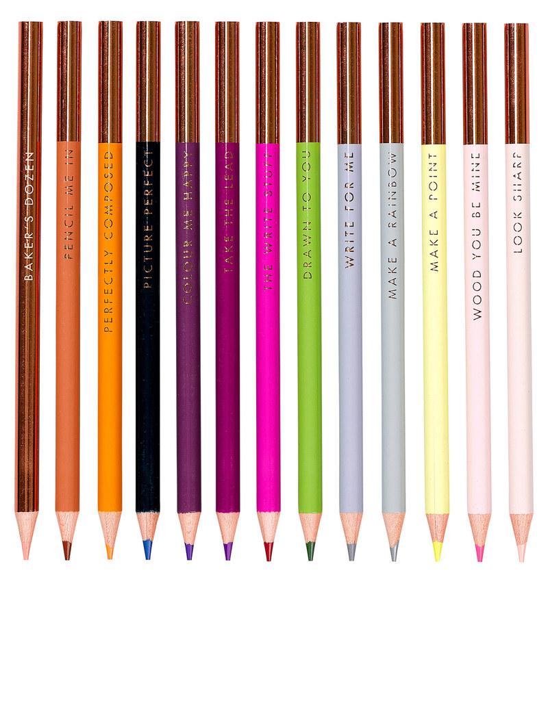 Ted Baker Baker\'s Dozen Colouring Pencils [Set of 13] | Painting ...