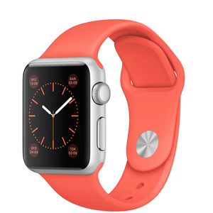 Apple Watch Sport 38mm Silver Aluminium Case With Apricot Band
