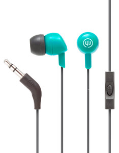 Wicked Audio Brawl Real Teal With Mic Earbuds