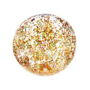 Glitter Beach Ball Gold Glitter 13.75 Inch