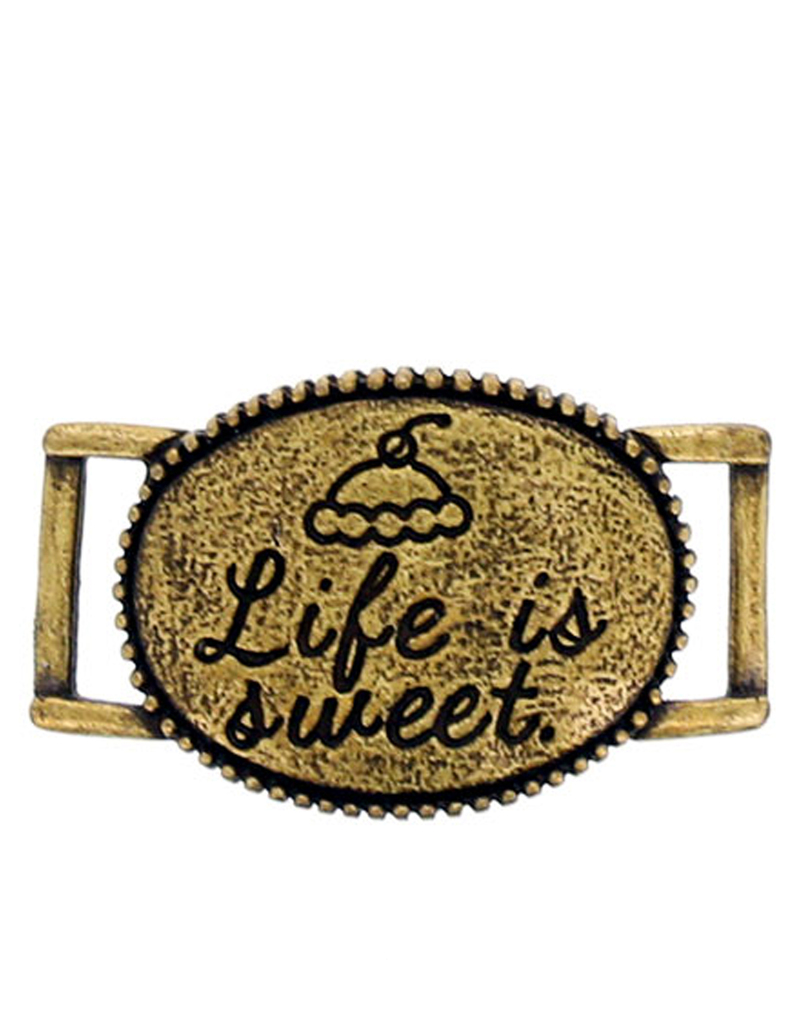 Littles Life Is Sweet Brass Bracelet Buckle