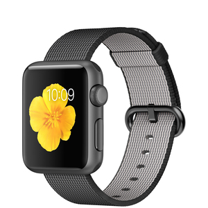 Apple Watch 38mm Space Grey Aluminium Case With Black Woven Nylon
