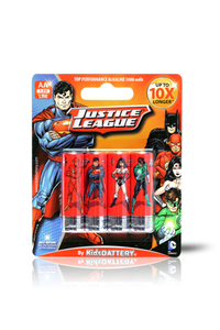 Kids Battery Justice League 4X AA/LR6 Alkaline Batteries