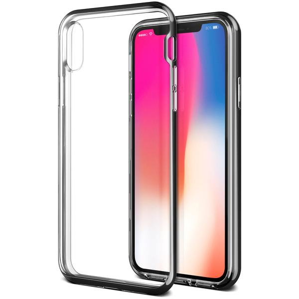 sale retailer 29c5e ec230 VRS Design Crystal Bumper Case Black for iPhone X