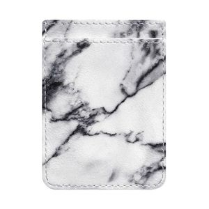 iDecoz White Marble Phone Pocket