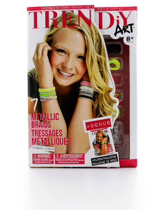 TRENDiY Arts Metallic Braids Activity Set