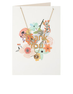 Orelia Floral Thank You Necklace Gift Card