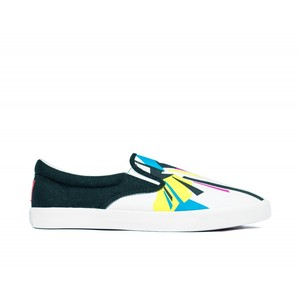 Bucketfeet Cmyk Visions Black/White Low Top Men's Canvas Slip-Ons