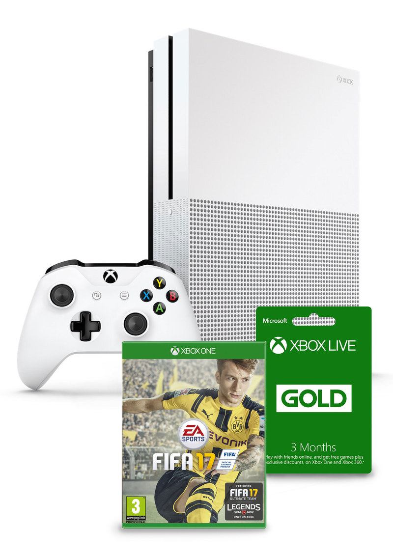 xbox one s 1tb fifa 17 3 months xbox live membership. Black Bedroom Furniture Sets. Home Design Ideas